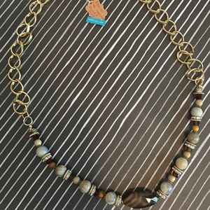 Agate and Jasper Necklace - Clasp or Over the Head